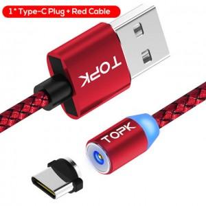Магнитный кабель, коннектор для зарядки: Type C, Micro USB, Iphone