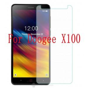 Закаленное защитное стекло на Doogee X100