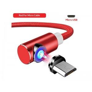 Красный магнитный кабель Micro USB на Samsung, Xiaomi, Huawei и другие - TOPK