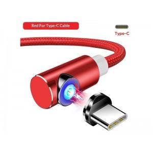 Красный магнитный кабель Type C на Samsung, Xiaomi, Huawei и другие - TOPK