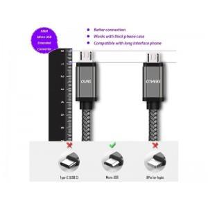Micro USB кабель с коннектором 9 мм, усиленный