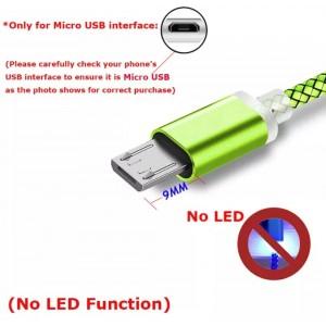 Micro USB кабель с коннектором 9 мм, усиленный, зеленый