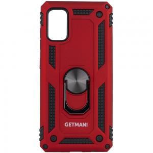 Ударопрочный чехол для Samsung Galaxy A41 - GETMAN Serge Ring for Magnet (Красный)