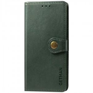 Кожаный чехол книжка для Xiaomi Mi 10 / Mi 10 Pro - GETMAN Gallant (PU) (Зеленый)