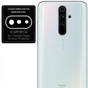 Гибкое защитное стекло 0.18mm на камеру для Xiaomi Redmi Note 8 Pro - (тех.пак) (Черный)