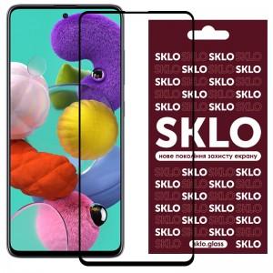 Защитное стекло для Samsung Galaxy A51 / M31s - SKLO 3D (full glue) (Черный)