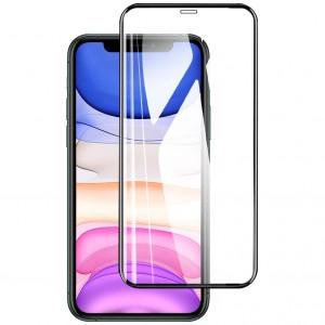 """Защитное стекло для Apple iPhone 11 Pro Max (6.5"""") / XS Max - XD+ (full glue) (тех.пак) (Черный)"""