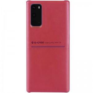 Кожаная накладка для Samsung Galaxy S20 - G-Case Cardcool Series (Красный)