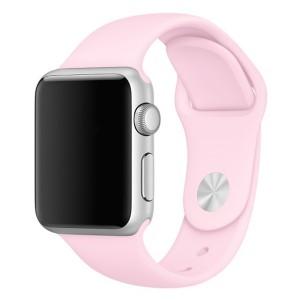 Силіконовий ремінець для Apple watch 42mm / 44mm (Рожевий / Light pink)