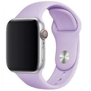 Силіконовий ремінець для Apple watch 42mm / 44mm (Бузковий / Dasheen)