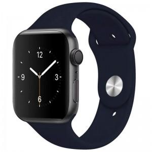 Силіконовий ремінець для Apple watch 38mm / 40mm (Темно-синій / Midnight blue)