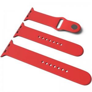 Силіконовий ремінець для Apple Watch Sport Band 38/40 (S / M & M / L) 3pcs (Червоний / Red)