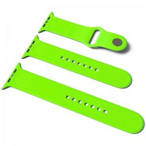 Силіконовий ремінець для Apple Watch Sport Band 38/40 (S / M & M / L) 3pcs (Салатовий / Neon green)
