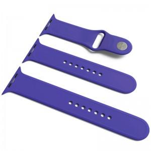 Силіконовий ремінець для Apple Watch Sport Band 42/44 (S / M & M / L) 3pcs (Фіолетовий / Ultra Violet)