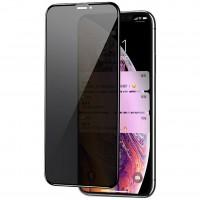 Защитное стекло Privacy 5D (full glue) (тех.пак) для Apple iPhone 11 Pro Max / XS Max (Черный)