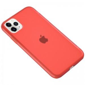 """Силиконовый матовый полупрозрачный чехол для iPhone 11 Pro (5.8"""") (Красный / Red)"""