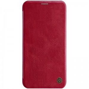 """Кожаный чехол (книжка) для iPhone 11 Pro (5.8"""") Nillkin Qin Series (Красный)"""