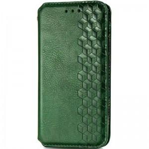 Кожаный чехол книжка для Xiaomi Mi Note 10 Lite - GETMAN Cubic (PU) (Зеленый)