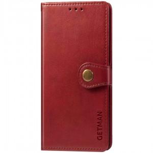 Кожаный чехол книжка для Samsung Galaxy M31 - GETMAN Gallant (PU) (Красный)