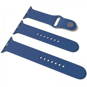 Силиконовый ремешок для Apple Watch Sport Band 42 / 44 (S/M & M/L) 3pcs (Синий / Navy Blue)