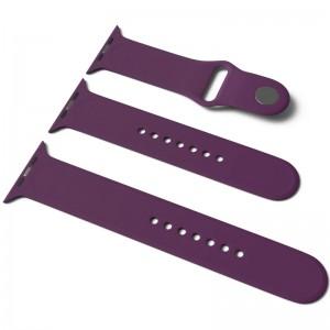 Силиконовый ремешок для Apple Watch Sport Band 42 / 44 (S/M & M/L) 3pcs (Фиолетовый / Grape)