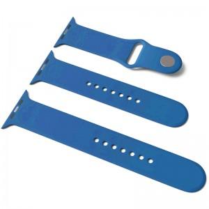 Силіконовий ремінець для Apple Watch Sport Band 42/44 (S/M & M/L) 3pcs (Синій / Blue)