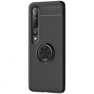 TPU чехол для Xiaomi Mi 10 / Mi 10 Pro - Deen ColorRing под магнитный держатель (opp) (Черный / Черный)