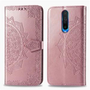 Кожаный чехол (книжка) для Xiaomi Redmi K30 / Poco X2 - Art Case с визитницей (Розовый)