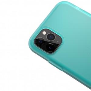 """Силиконовый матовый полупрозрачный чехол для iPhone 11 Pro (5.8"""") (Голубой / Marine Green)"""