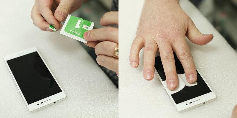 Як наклеїти на скло смартфон