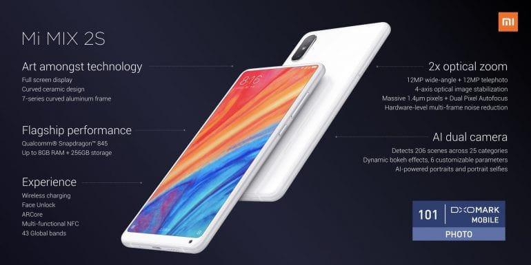 Флагман Xiaomi Mi MIX 2s