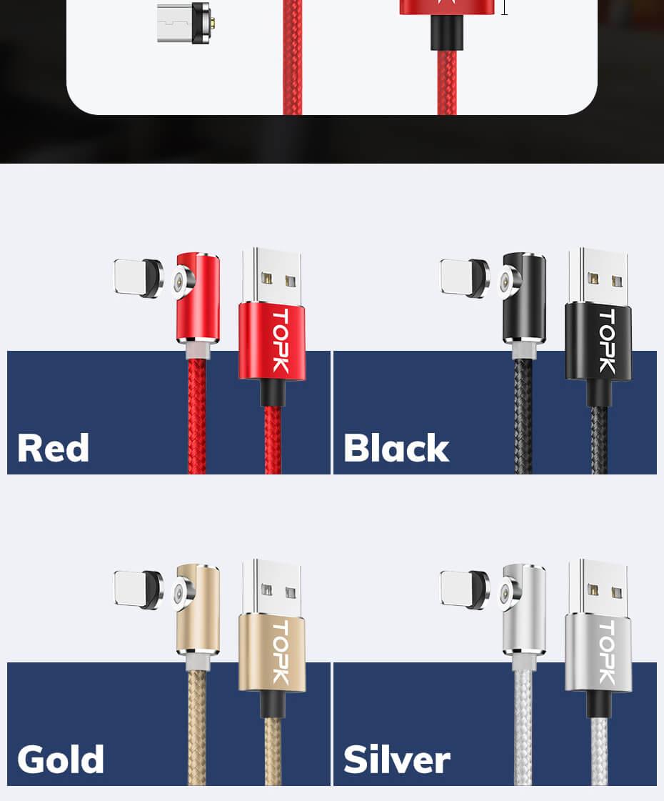 Магнитные кабели для телефонов кутовые